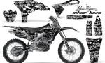 Yamaha YZ250F 2010 AMR Graphics Kit SILVERHAZE BLACK NP 150x90 - Yamaha YZ250F 4 Stroke 2010-2013 Graphics