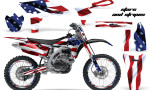 Yamaha YZ250F 2010 AMR Graphics Kit STARSSTRIPES NP 150x90 - Yamaha YZ250F 4 Stroke 2010-2013 Graphics
