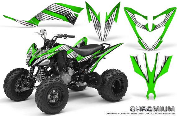 Yamaha Raptor 250 Graphics Kit Chromium Green 570x376 - Yamaha Raptor 250 Graphics