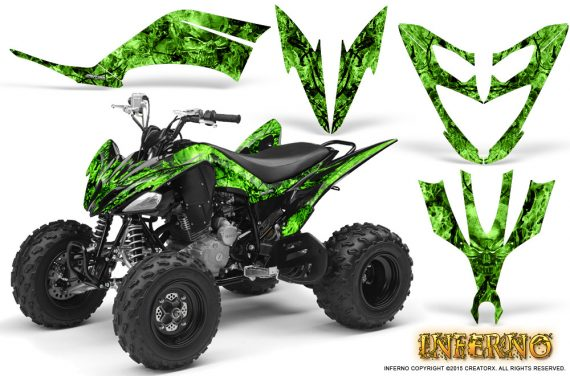 Yamaha Raptor 250 Graphics Kit Inferno Green 570x376 - Yamaha Raptor 250 Graphics