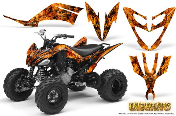 Yamaha Raptor 250 Graphics Kit Inferno Orange 570x376 - Yamaha Raptor 250 Graphics