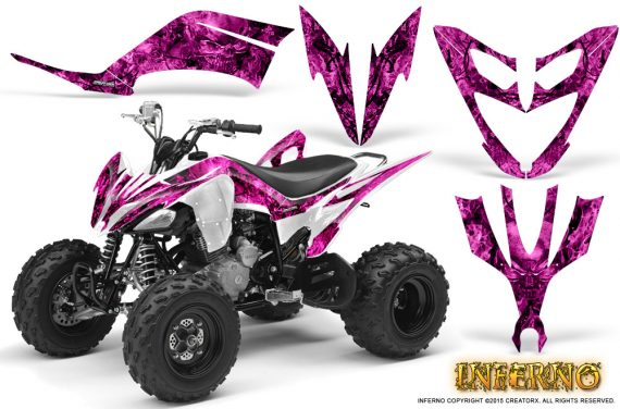 Yamaha Raptor 250 Graphics Kit Inferno Pink 570x376 - Yamaha Raptor 250 Graphics