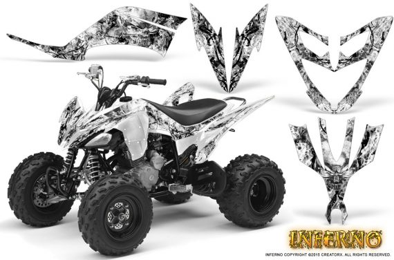 Yamaha Raptor 250 Graphics Kit Inferno White 570x376 - Yamaha Raptor 250 Graphics