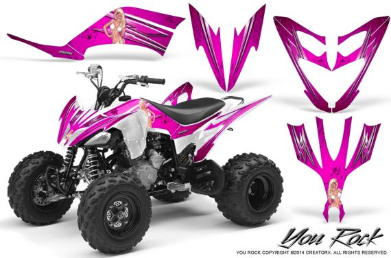 Yamaha Raptor 250 Graphics Kit You Rock Pink 570x376 - Yamaha Raptor 250 Graphics