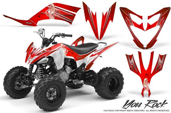 Yamaha Raptor 250 Graphics Kit You Rock Red WB 570x376 - Yamaha Raptor 250 Graphics