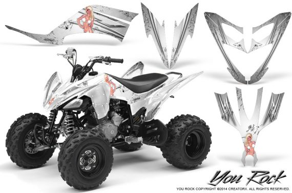 Yamaha Raptor 250 Graphics Kit You Rock White 570x376 - Yamaha Raptor 250 Graphics