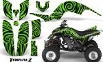 Yamaha Raptor 660 CreatorX Graphics Kit TribalZ Green 150x90 - Yamaha Raptor 660 Graphics