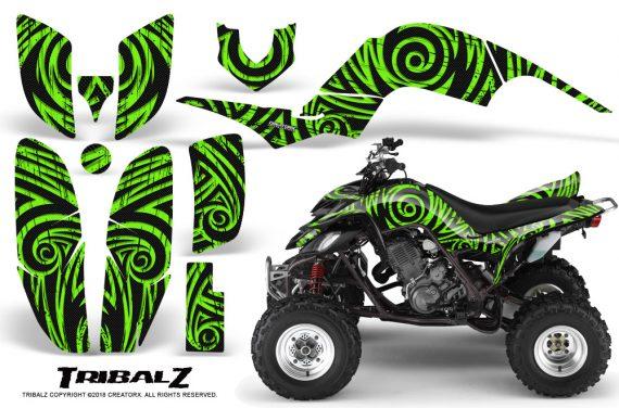 Yamaha Raptor 660 CreatorX Graphics Kit TribalZ Green 570x376 - Yamaha Raptor 660 Graphics
