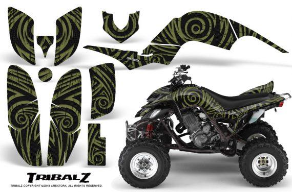Yamaha Raptor 660 CreatorX Graphics Kit TribalZ GreenArmy 570x376 - Yamaha Raptor 660 Graphics