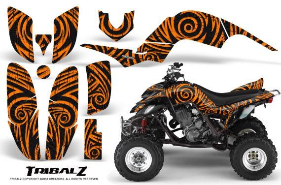 Yamaha Raptor 660 CreatorX Graphics Kit TribalZ Orange 570x376 - Yamaha Raptor 660 Graphics