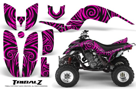 Yamaha Raptor 660 CreatorX Graphics Kit TribalZ Pink 570x376 - Yamaha Raptor 660 Graphics