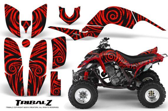 Yamaha Raptor 660 CreatorX Graphics Kit TribalZ Red 570x376 - Yamaha Raptor 660 Graphics