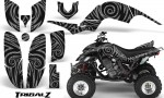 Yamaha Raptor 660 CreatorX Graphics Kit TribalZ Silver 150x90 - Yamaha Raptor 660 Graphics