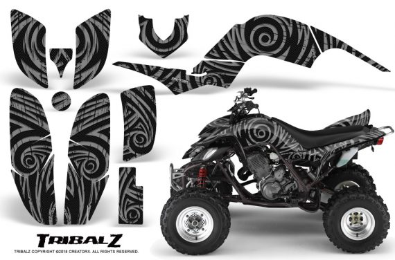 Yamaha Raptor 660 CreatorX Graphics Kit TribalZ Silver 570x376 - Yamaha Raptor 660 Graphics