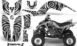 Yamaha Raptor 660 CreatorX Graphics Kit TribalZ White 150x90 - Yamaha Raptor 660 Graphics