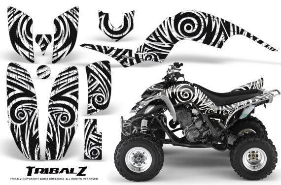 Yamaha Raptor 660 CreatorX Graphics Kit TribalZ White 570x376 - Yamaha Raptor 660 Graphics