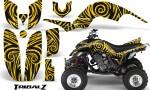 Yamaha Raptor 660 CreatorX Graphics Kit TribalZ Yellow 150x90 - Yamaha Raptor 660 Graphics