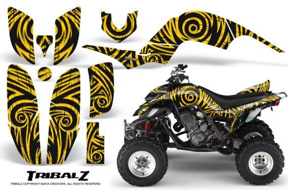 Yamaha Raptor 660 CreatorX Graphics Kit TribalZ Yellow 570x376 - Yamaha Raptor 660 Graphics