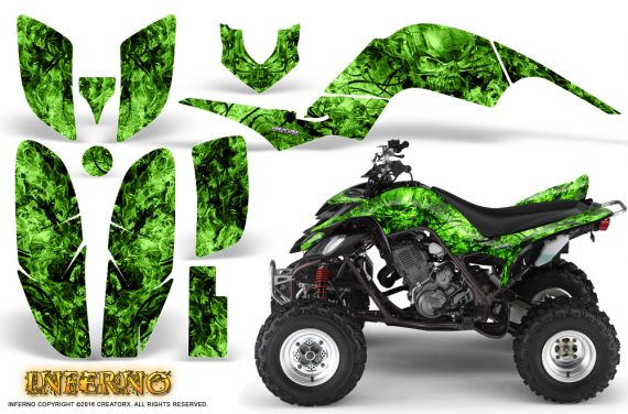Yamaha Raptor 660 Graphics Kit Inferno Green 570x376 - Yamaha Raptor 660 Graphics
