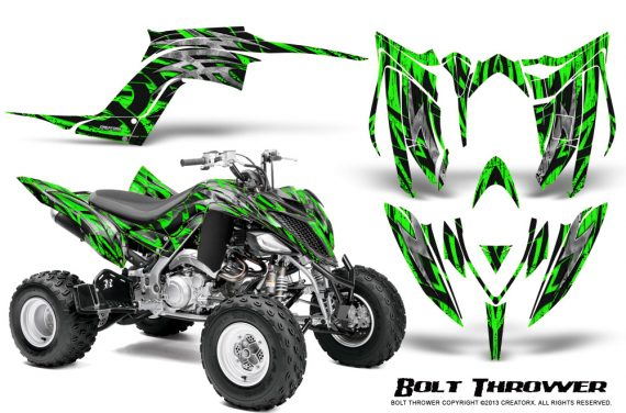 Yamaha Raptor YFM700R 2013 CreatorX Graphics Kit Bolt Thrower Green 570x376 - Yamaha Raptor 700 2013-2018 Graphics