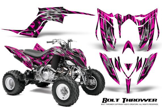 Yamaha Raptor YFM700R 2013 CreatorX Graphics Kit Bolt Thrower Pink 570x376 - Yamaha Raptor 700 2013-2018 Graphics