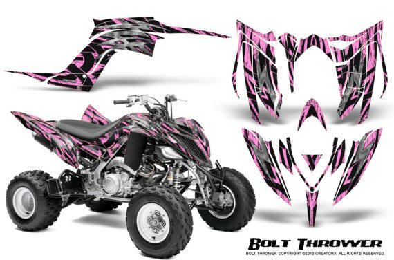 Yamaha Raptor YFM700R 2013 CreatorX Graphics Kit Bolt Thrower Pink Lite 570x376 - Yamaha Raptor 700 2013-2018 Graphics