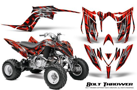 Yamaha Raptor YFM700R 2013 CreatorX Graphics Kit Bolt Thrower Red 570x376 - Yamaha Raptor 700 2013-2018 Graphics