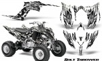 Yamaha Raptor YFM700R 2013 CreatorX Graphics Kit Bolt Thrower White 150x90 - Yamaha Raptor 700 2013-2018 Graphics