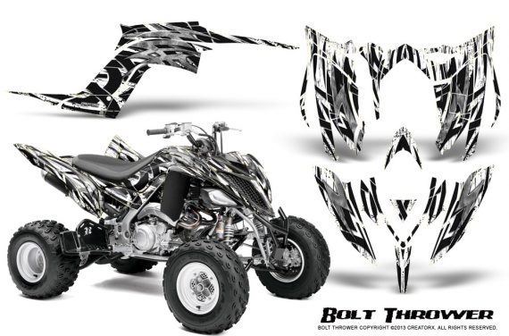 Yamaha Raptor YFM700R 2013 CreatorX Graphics Kit Bolt Thrower White 570x376 - Yamaha Raptor 700 2013-2018 Graphics