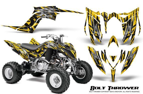 Yamaha Raptor YFM700R 2013 CreatorX Graphics Kit Bolt Thrower Yellow 570x376 - Yamaha Raptor 700 2013-2018 Graphics