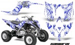 Yamaha Raptor YFM700R 2013 CreatorX Graphics Kit Samurai Blue White 150x90 - Yamaha Raptor 700 2013-2018 Graphics