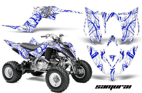 Yamaha Raptor YFM700R 2013 CreatorX Graphics Kit Samurai Blue White 570x376 - Yamaha Raptor 700 2013-2018 Graphics