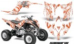 Yamaha Raptor YFM700R 2013 CreatorX Graphics Kit Samurai Orange White 150x90 - Yamaha Raptor 700 2013-2018 Graphics