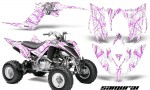 Yamaha Raptor YFM700R 2013 CreatorX Graphics Kit Samurai PinkLite White 150x90 - Yamaha Raptor 700 2013-2018 Graphics