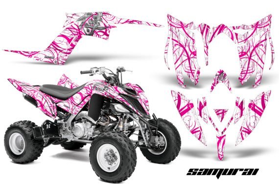 Yamaha Raptor YFM700R 2013 CreatorX Graphics Kit Samurai Pink White 570x376 - Yamaha Raptor 700 2013-2018 Graphics