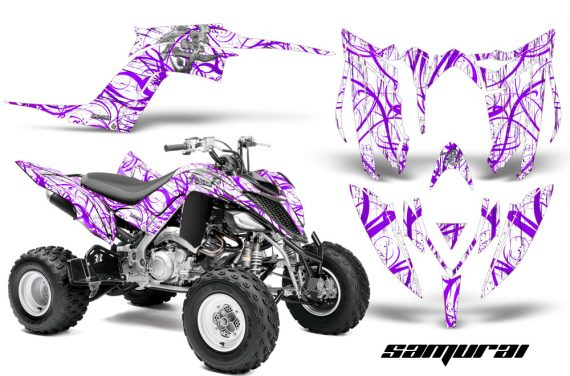 Yamaha Raptor YFM700R 2013 CreatorX Graphics Kit Samurai Purple White 570x376 - Yamaha Raptor 700 2013-2018 Graphics