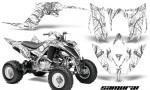Yamaha Raptor YFM700R 2013 CreatorX Graphics Kit Samurai Silver White 150x90 - Yamaha Raptor 700 2013-2018 Graphics