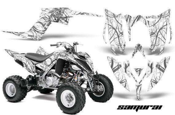 Yamaha Raptor YFM700R 2013 CreatorX Graphics Kit Samurai Silver White 570x376 - Yamaha Raptor 700 2013-2018 Graphics