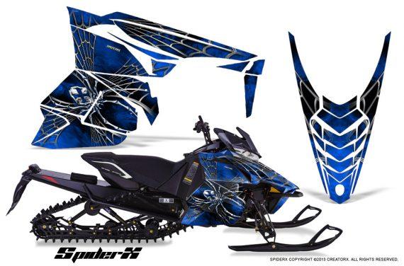 Yamaha Viper 2014 CreatorX Graphics Kit SpiderX Blue 570x376 - Yamaha Viper SR/SRT 2014-2016 Graphics