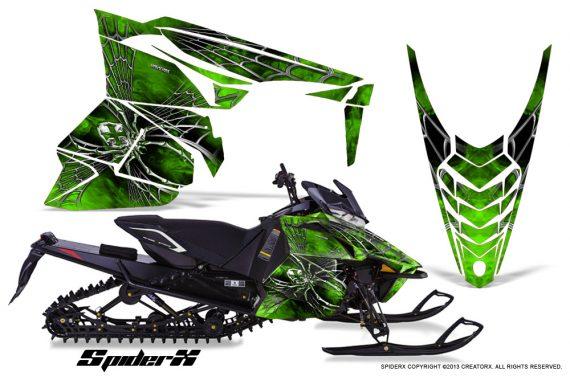 Yamaha Viper 2014 CreatorX Graphics Kit SpiderX Green 570x376 - Yamaha Viper SR/SRT 2014-2016 Graphics