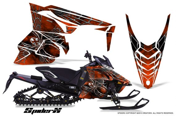 Yamaha Viper 2014 CreatorX Graphics Kit SpiderX Orange Dark 570x376 - Yamaha Viper SR/SRT 2014-2016 Graphics