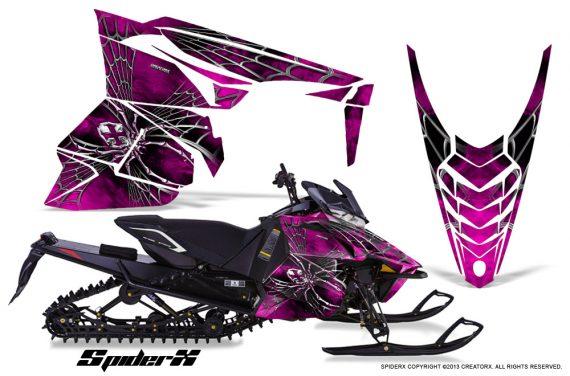 Yamaha Viper 2014 CreatorX Graphics Kit SpiderX Pink 570x376 - Yamaha Viper SR/SRT 2014-2016 Graphics