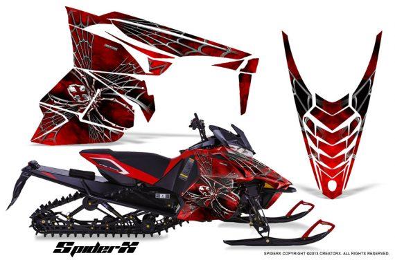 Yamaha Viper 2014 CreatorX Graphics Kit SpiderX Red 570x376 - Yamaha Viper SR/SRT 2014-2016 Graphics