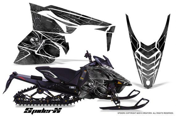 Yamaha Viper 2014 CreatorX Graphics Kit SpiderX Silver 570x376 - Yamaha Viper SR/SRT 2014-2016 Graphics
