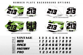 Dirt Bike Number Plate Graphics