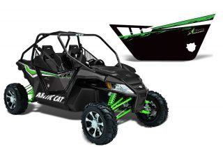 Arctic Cat Wildcat 1000 2 Door Graphics for Pro Armor Doors - Factory Black