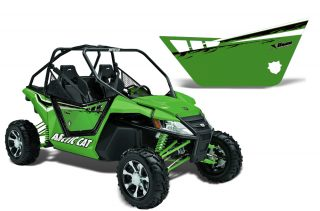 Arctic Cat Wildcat 1000 2 Door Graphics for Pro Armor Doors - Factory Green