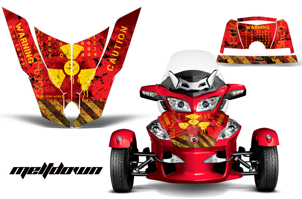 Can-Am Spyder RTS Hood and Rear Fender Graphics