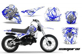 Yamaha PW80 CreatorX Graphics Kit Samurai Blue White 320x211 - Yamaha PW80 1996-2006 Graphics
