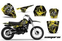 Yamaha-PW80-CreatorX-Graphics-Kit-Samurai-Yellow-Black